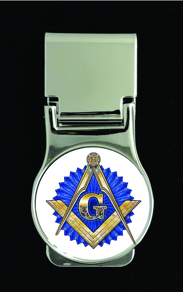 Masonic Money Clip - Round