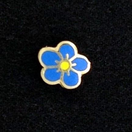 Masonic Forget Me Not Lapel Pin New