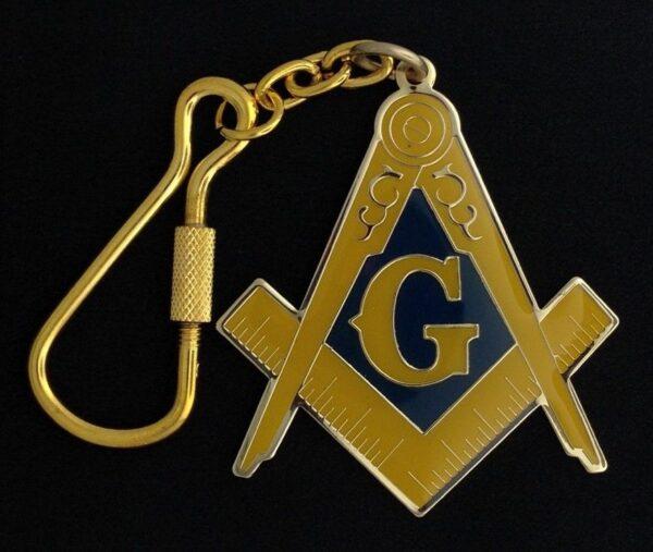 Masonic Emblem Key Chain Tag New