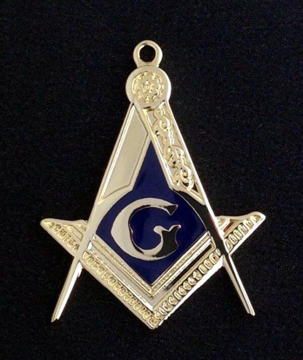 Masonic Emblem Pendant Gold New