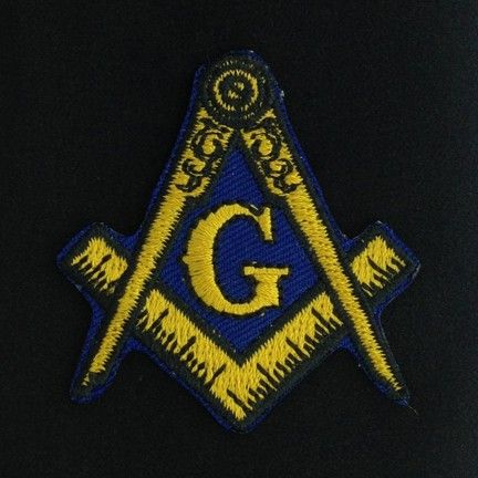 Masonic Emblem Embroidered Patch New