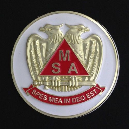Scottish Rite Meritorious Service Auto Emblem New For Sale