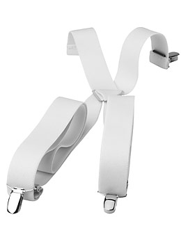 Adjustable Suspenders White New For Sale