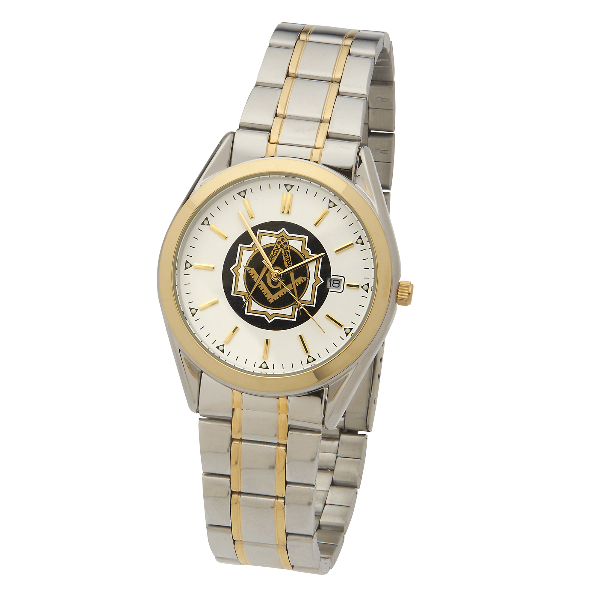 Masonic Square & Compasses TFX Watch - Two Tone Bracelet