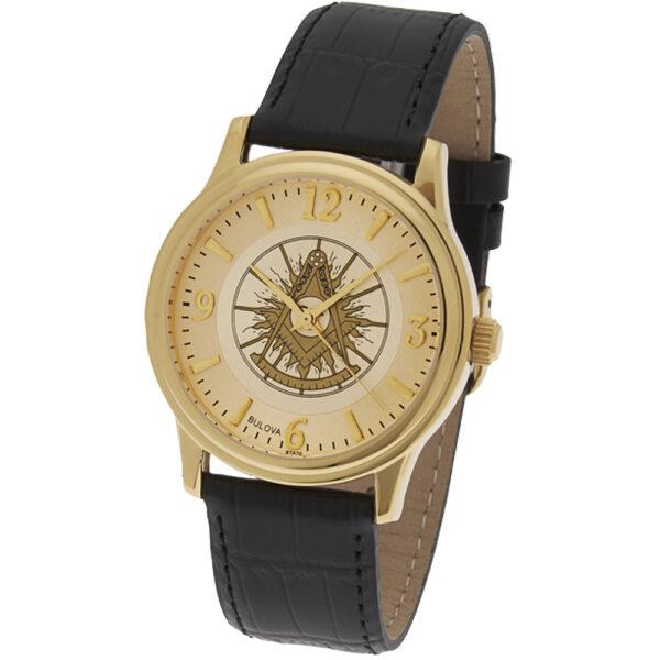 Masonic Past Master Watch Gold New