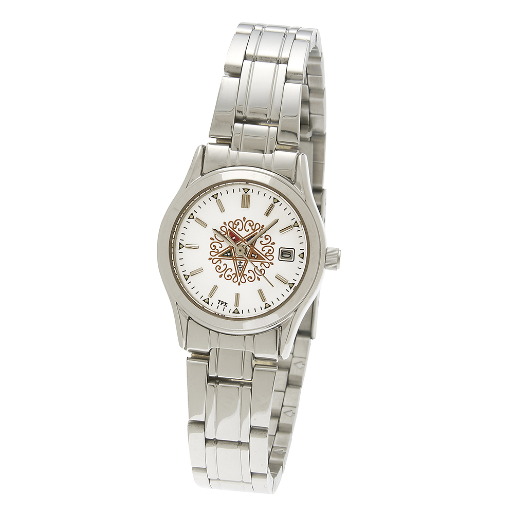 Eastern Star White Dial Watch - Stainless Bracelet