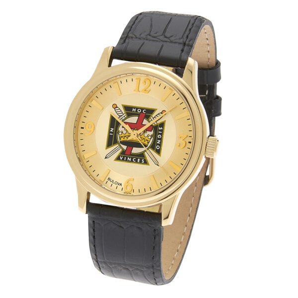 Masonic Knight Templar Watch Gold New