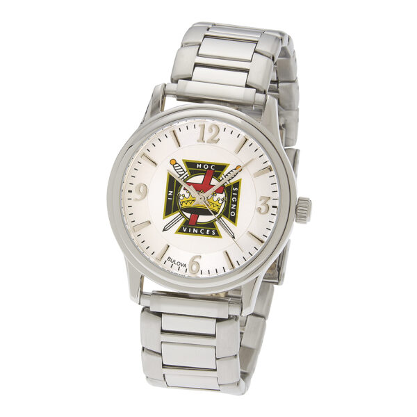 Masonic Knight Templar Watch Silver New
