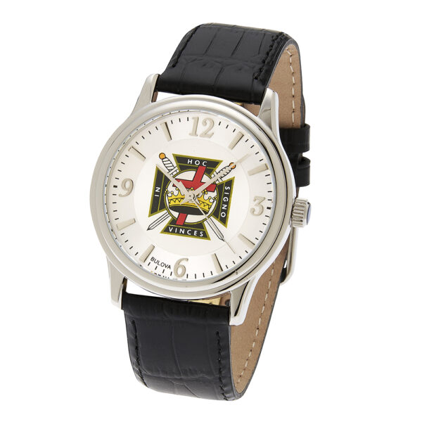 Masonic Knight Templar Watch Silver New