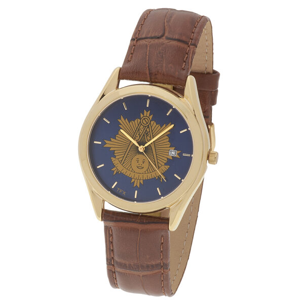 Masonic Past Master Watch Gold New Fratline