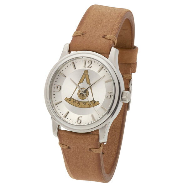 Masonic Past Master Watch Silver New