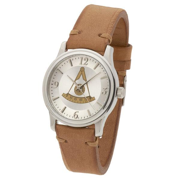 Masonic Past Master Watch Silver New