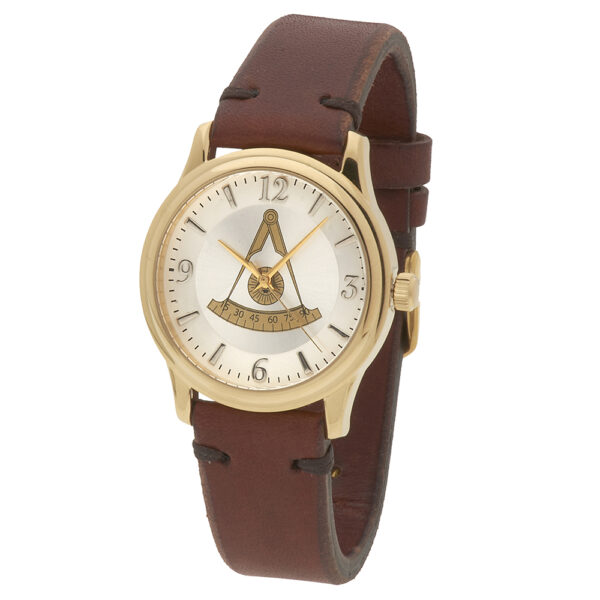 Masonic Past Master Watch Gold New