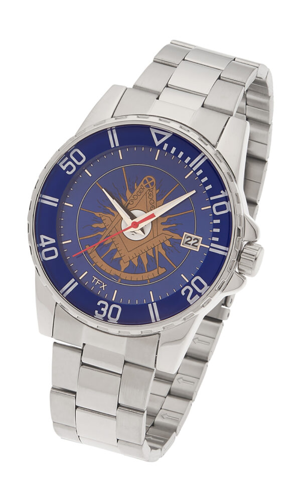 Masonic Past Master Watch Silver New Fratline