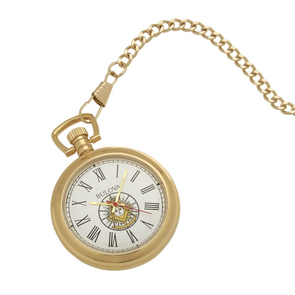 Masonic Past Master Pocket Watch Gold New