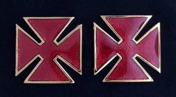 Grand Commandery Metal Collar Cross Pin New