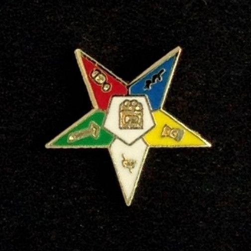 Order of the Eastern Star Lapel Pin New