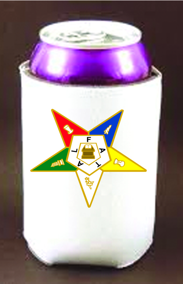 Order of Eastern Star Can Cooler New