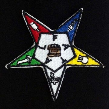 Order of the Eastern Star Embroidered Patch New