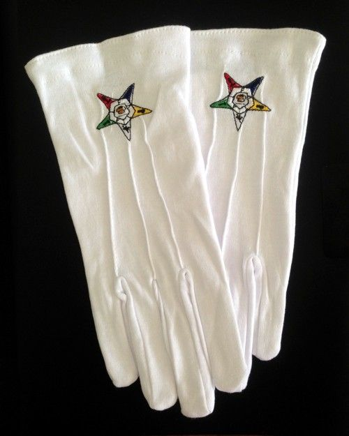 Order of the Eastern Star Gloves New For Sale