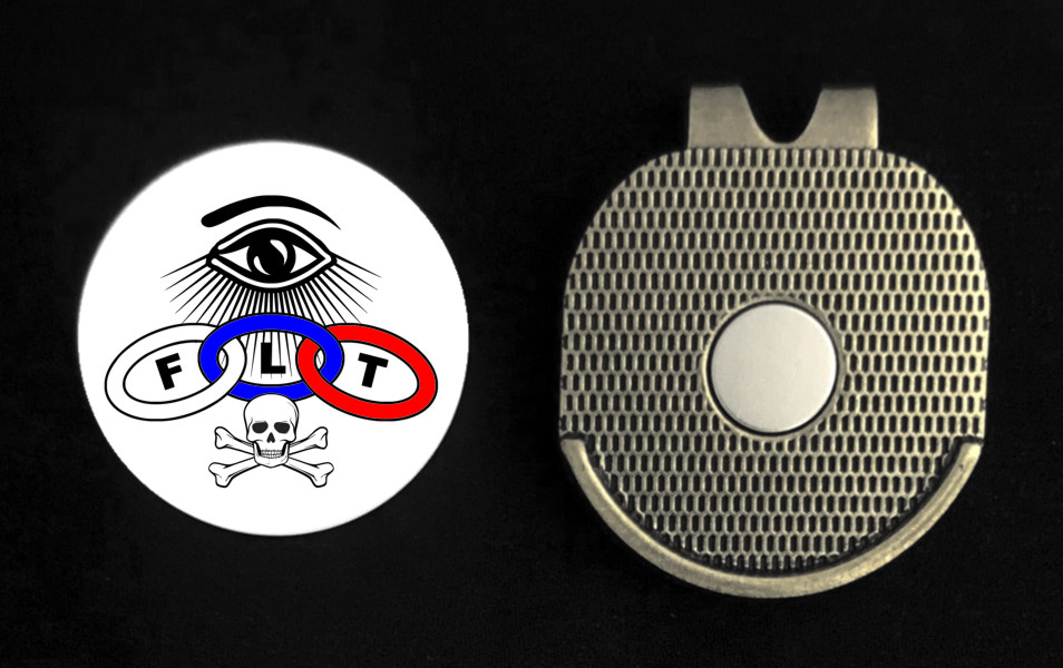 Odd Fellows Golf Ball Marker With Magnetic Visor Clip
