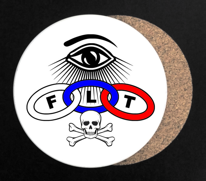 Odd Fellows Full Color Drink Coaster - Round