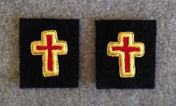 Knight Templar Collar Cross Gold Mylar New