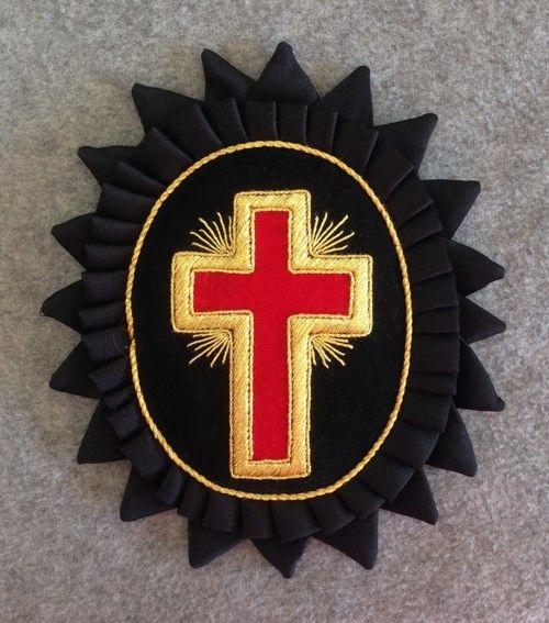 Knight Templar Chapeau Rosette Gold Mylar New