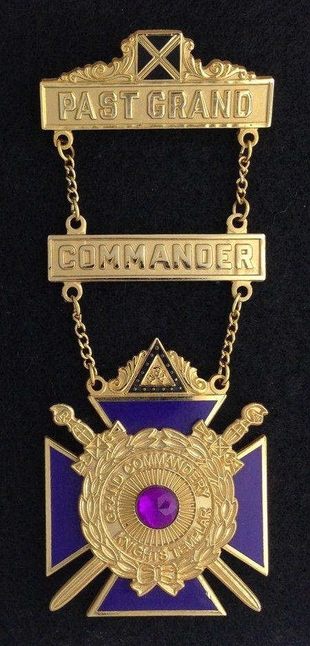 Knight Templar Past Grand Commander Jewel New