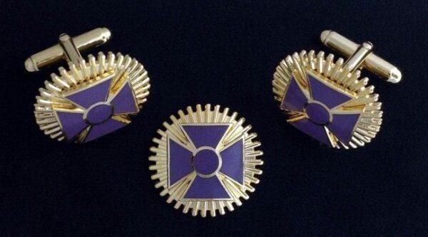 Knight Templar Past Grand Commander Lapel Pin Cuff Links New