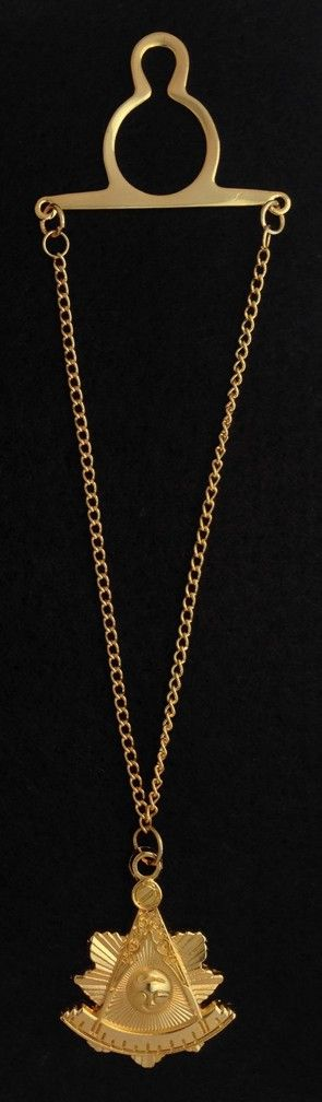Past Master Emblem Tie Chain New For Sale