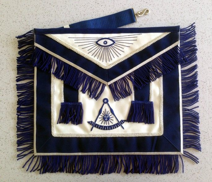 Deluxe Past Master Apron on Imitation Lambskin