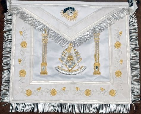 Deluxe Silver & Gold Past Master Apron