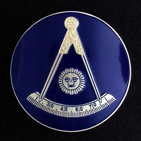 Masonic Past Master Auto Emblem New