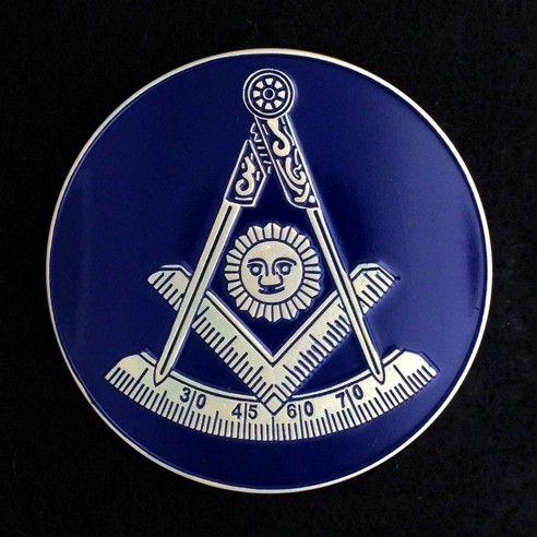 Masonic Past Master Auto Emblem New