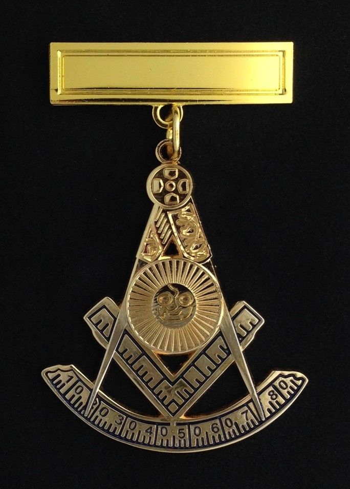 Masonic Past Master Jewel with Engraving Bar PM3-PB