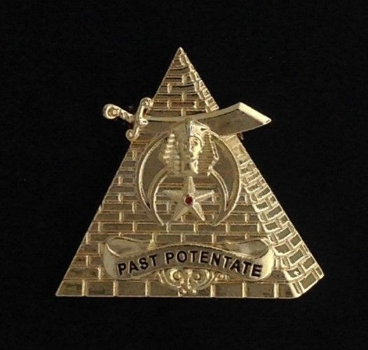 Shrine Shriner Past Potentate Lapel Pin Gold New
