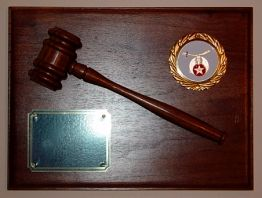 Shrine Shriner Gavel Award Plaque New