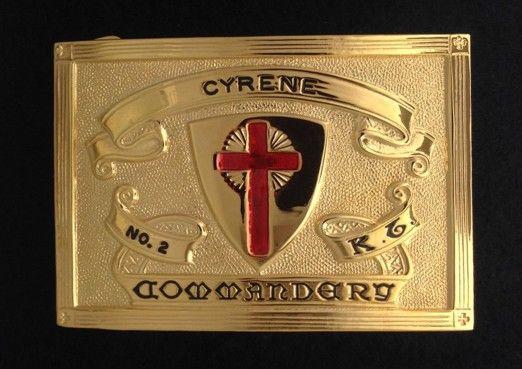 Knight Templar Sword Belt Buckle Plate New