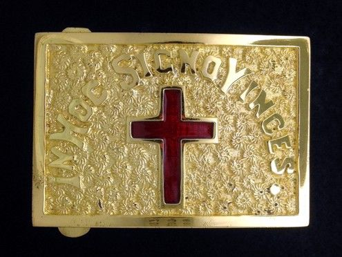 Past Commander Belt Plate in Gold Finish