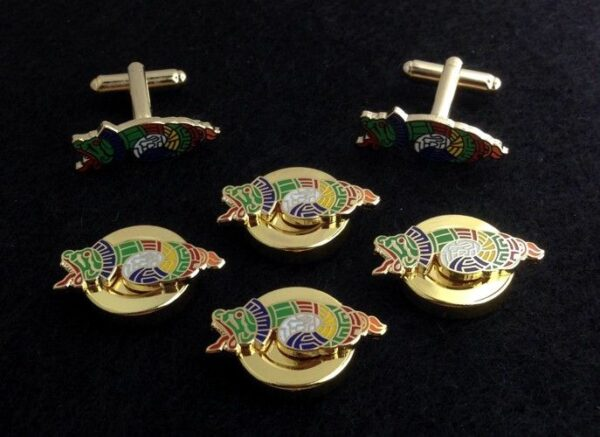 Order of Quetzalcoatl Button Covers Cuff Links