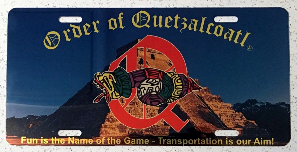Order of Quetzalcoatl Full Color Auto Plate (Gold)