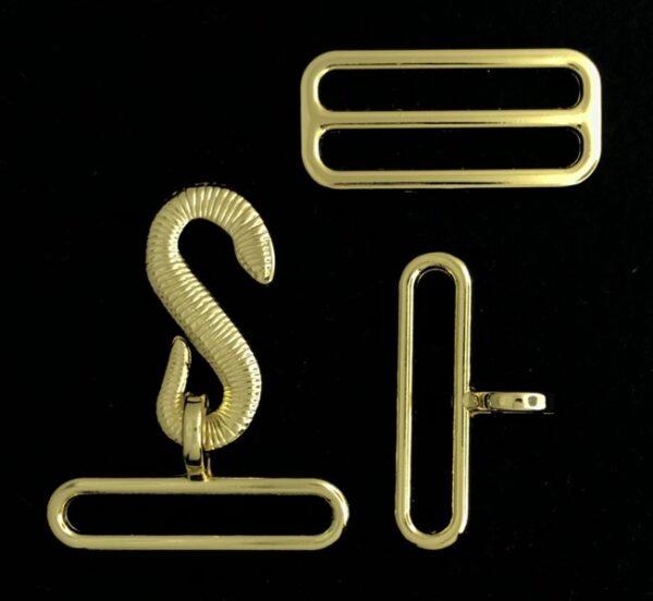 Masonic Apron Belt Hardware Gold New