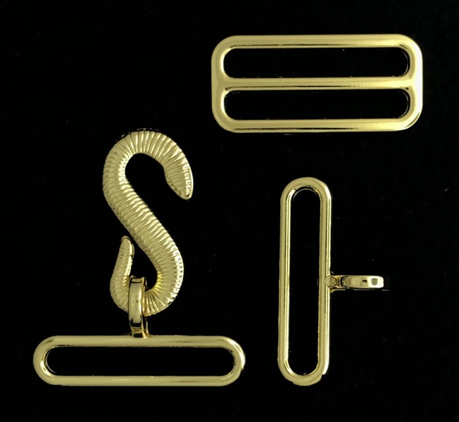 Apron Buckle Set in Gold Plating