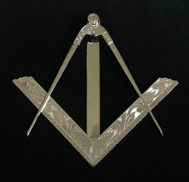 Masonic Square Compasses Funeral Set New Fratline