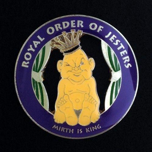 Royal Order of Jesters Cast Auto Emblem Purple New