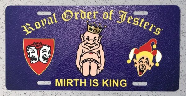 Royal Order of Jesters Auto Plate New