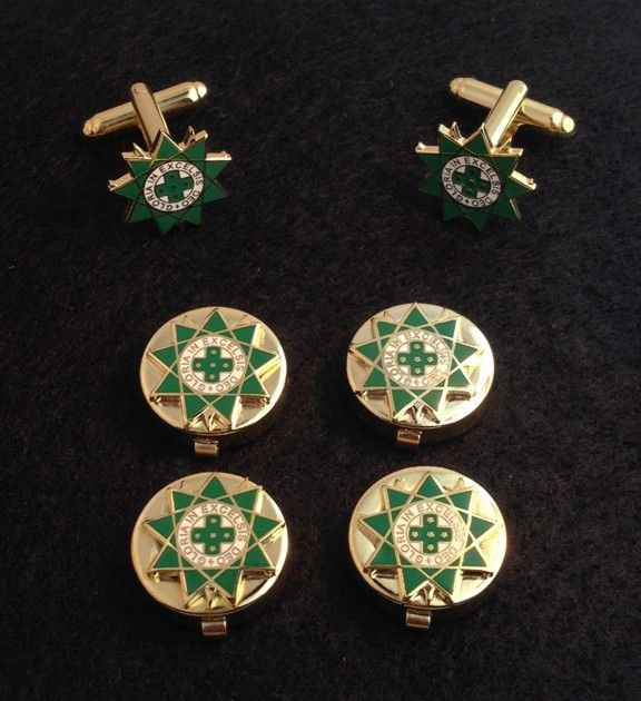 Royal Order of Scotland Button Covers Cuff Links New