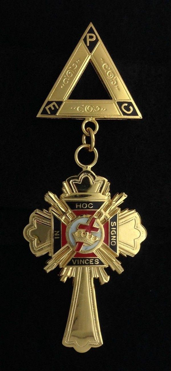 Knights Templar Past Commander Jewel Gold New
