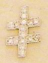 Scottish Rite 33rd Degree Diamond Lapel Pin New